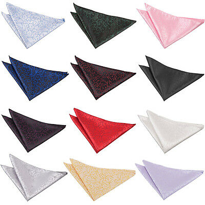 DQT Premium Woven Jacquard Swirl Wedding Handkerchief Pocket Square Hanky