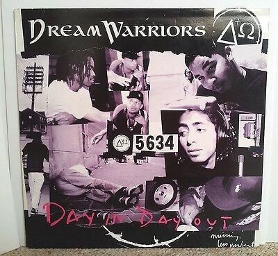 """DREAM WARRIORS / DAY IN DAY OUT 12"""" OG UK 1994 HIP HOP VINYL RECORD"""