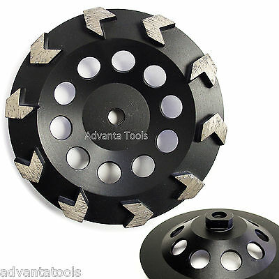 "7"" Arrow Segment Diamond Grinding Cup Wheel for Concrete - 5/8""-11 Threads"