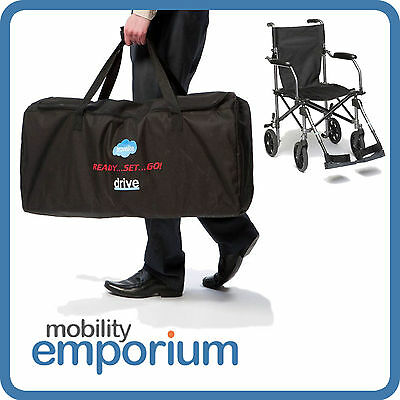 Lightweight  Folding Travel Transport Transit Wheelchair with a Bag TraveLite