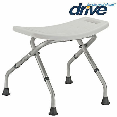 Folding Bath Shower Seat Stool Chair Adjustable Height Mobility Disability Aid