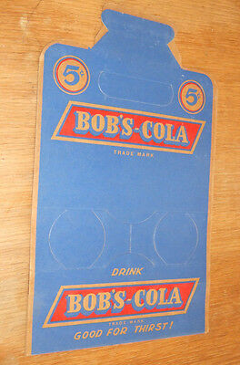 Original 1940s Bob's Cola Four Bottle Cardboard Carton~unused