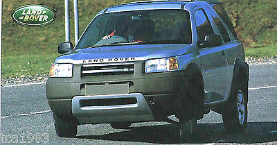 1997 / 1998 LAND ROVER FREELANDER SPEC SHEET / Brochure