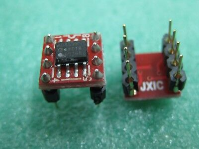 1x AD8599AR SOIC to DIP8  Dual Ultralow Distortion, Ultralow Noise Op Amp AD8599