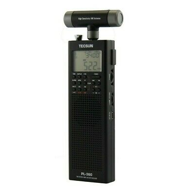 TECSUN PL360 PLL DSP Radio with ETM FM / AM/ MW / SW     BLACK