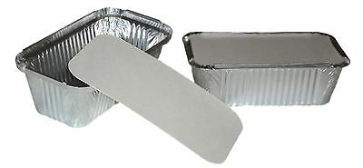SILVER ALUMINIUM FOIL CONTAINERS TRAYS + LIDS Please Selct Size & Qty