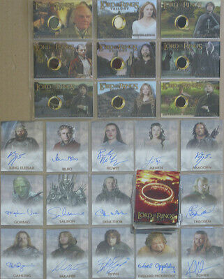 Lord of the Rings Chrome Triology Trading card set Full Run (LOTR)