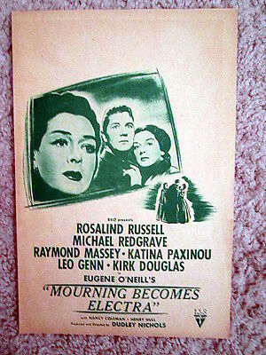 Mourning Becomes Electra (1947) Rosalind Russell/michael Redgrave Movie Herald