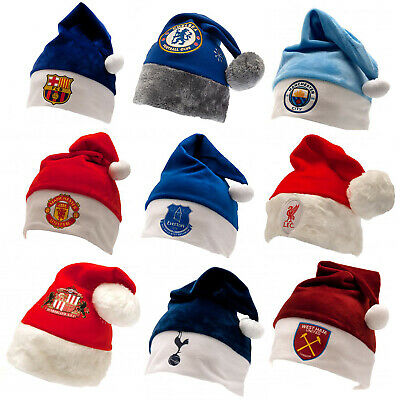 Football Santa Hat Christmas Xmas OFFICIAL Souvenir Party Dress Up Gift