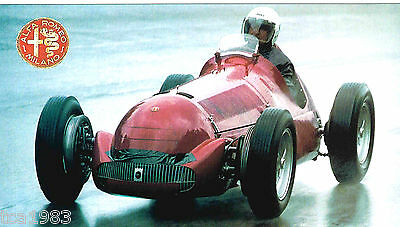 ALFA ROMEO 158 / 159  Alfetta Grand Prix SPEC SHEET/ Brochure:1951,1950,1949,...