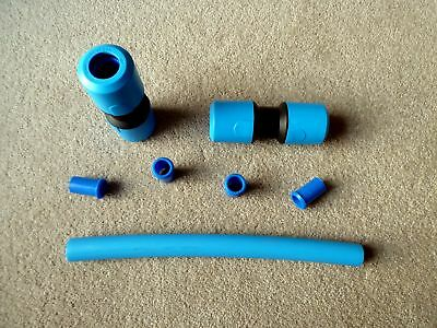 25mm MDPE Blue Plastic Water Main Burst Pipe Repair Kit | 500mm Long