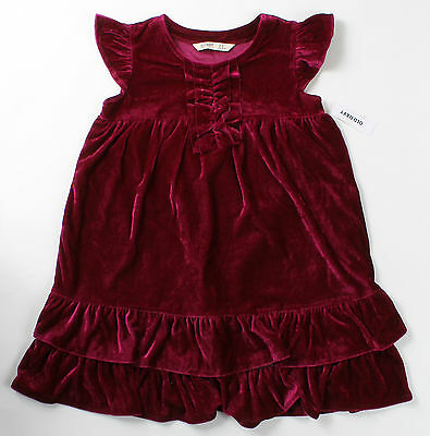 NWT girls size 6 7 8 10 12 14 OLD NAVY magenta velour Christmas holiday dress!!