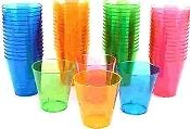 1oz Neon Plastic Shot Cups (Case 576)