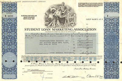 Sallie Mae   U.S. student loan bond stock certificate