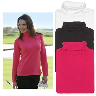 Ladies Glenmuir Hayley Shaped Fit Shirt Golf Rollneck Cotton