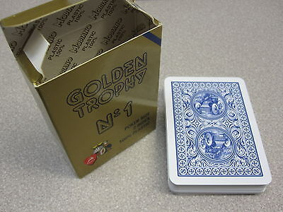 Modiano Italian Playing Cards Poker Game Deck 100% Plastic - Two 2 Index BLUE FS