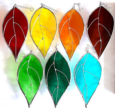 Garden Leaves stained glass suncatcher collectable window decoration flowers New