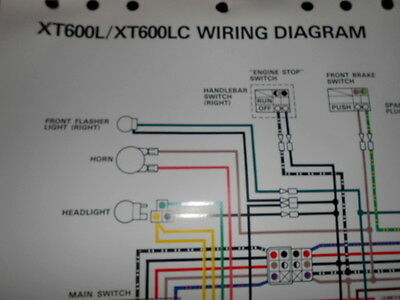 yamaha wiring harness wire colors yamaha oem factory color wire diagram schematic 1983 ...