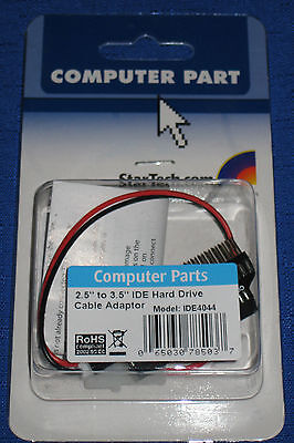 StarTech 2.5 to 3.5-Inch IDE Hard Drive Cable Adapter IDE4044 065030785037 New