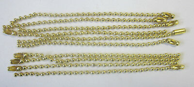 10 x 10cm Ball Chain & Connector Gold For Scrapbooking, Key Chains & Jewellery