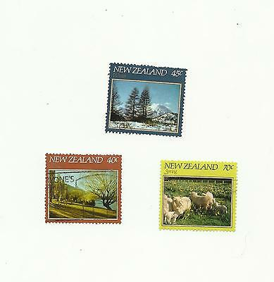 New Zealand 1982 Seasons - 3 stamps - Used
