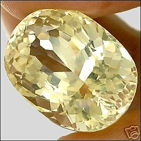 29,42 ct  Gold Yellow Citrine - Oval Portuguese - IF !! -