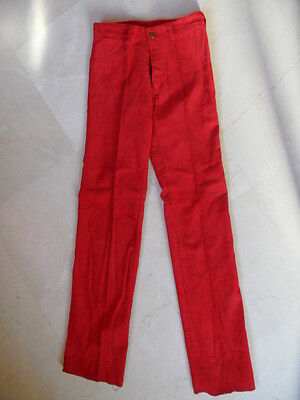 Pantalon Velour Rouge Authentique Vintage T36 Neuf -1