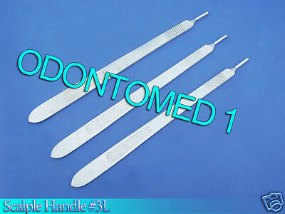 3 Scalpel Handle #3L Surgical ENT Veterinary Instruments