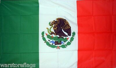 "MEXICO FLAG 18"" X 12"" for boats treehouses caravans boat caravan flags MEXICAN"
