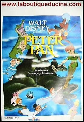 PETER PAN Affiche Cinéma ORIGINALE / French Movie Poster WALT DISNEY 60x40