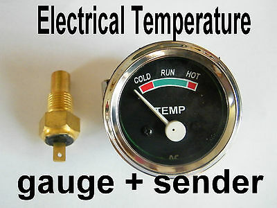 SPECO STYLE WATER TEMPERATURE GAUGE  with SENDER  (Electrical) 12 V with light
