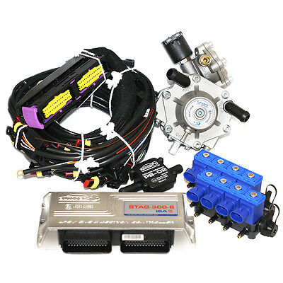 Stag 300 8 Autogas Sequential Injection Lpg 8 Cylinder Kit W/ Reg Omvl Injectors