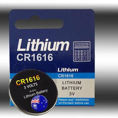 5 x CR1616 Blister Battery Lithium Cell/Button Batteries Sydney Local Fast Post