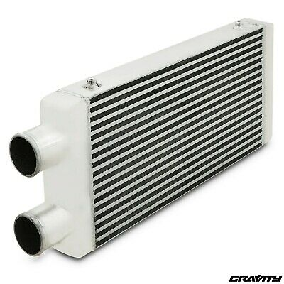 UNIVERSAL DUAL TWIN PASS FRONT MOUNT INTERCOOLER 600X 300X76mm DRIFT DRAG RACE