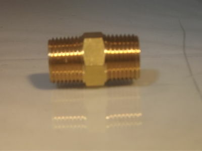 "1/8""NPT Male to 1/8""Bsp Male Adaptor Nipple for Air Water etc"