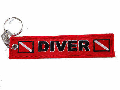 Scuba Diving Diver Key Chain Banner KeyChain Red New