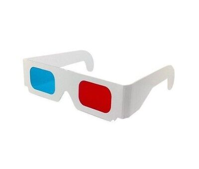 3D Glasses x 2 Red Cyan ~ Blue Free Postage Brand New Never Used