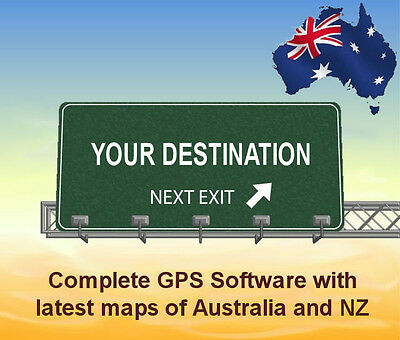 GPS Software for WINDOWS CE gps units with latest Australian and NZ maps
