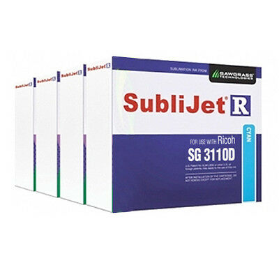 Sawgrass SubliJet-R Sublimation Ink Set (CMYK) for Ricoh SG 3110D Printer