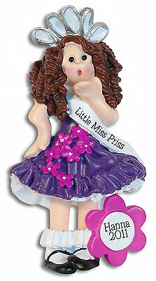 Beauty Pageant Toddler & Tiarra Personalized 1st Christmas Ornament  Deb & Co