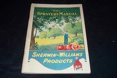 Vintage 1920 Sherman Williams Products Sprayers Manual Growers Fruit & Vegetable