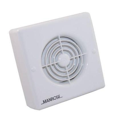 "Manrose XF100P 4"" Bathroom Extractor Fan with Pull Cord"