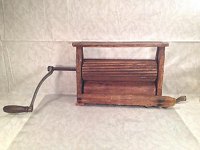 Antique Laundry Wringer All Wood Rollers No Maker Markings