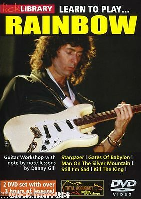 LICK LIBRARY Learn to Play RAINBOW Ritchie Blackmore LESSONS Electric GUITAR DVD