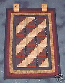 ONE Quilt Hanger for small quilts Light Wood Hanger ez Hang Ups Rug Tapestry