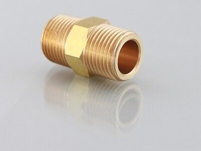 "3/8""NPT Male to 3/8""Bsp Brass Male Adaptor Nipple for Air Water etc"