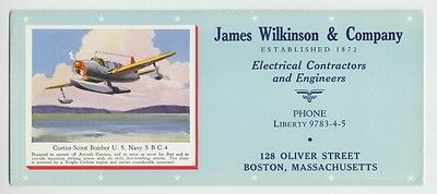 [33589] Old Curtiss Scout Bomber U.s. Navy - James Wilkinson & Co. Ink Blotter