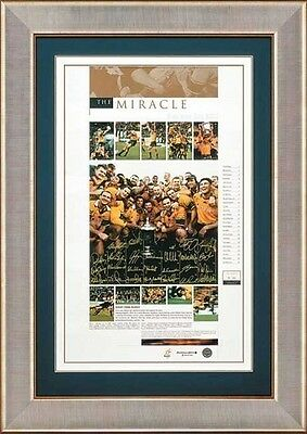 2000 Australian Wallabies Hand Signed & Framed Bledisloe Cup The Miracle Print