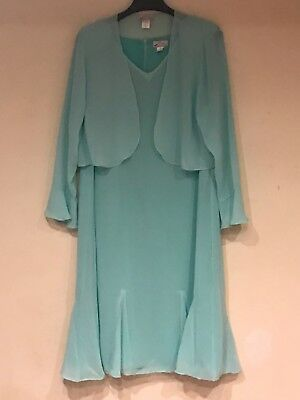 Women's Wedding Mother of Bride Groom Church mint color jacket dress plus1X 2X3X
