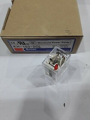 KH-102-2CL-024VAC Koino Power Relay UL 10 AMP 8 Pin DPDT 24VAC COIL NEW
